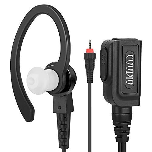 COODIO Motorola CLP446 C-Ring Pro Auriculares Micrófono/PTT