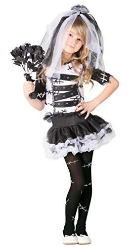 Guirca- Costume da Sposa Cadavere 7/9 Anni, Colore, 7-9A, 82537