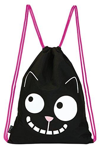 moses. Ed, The Cat Rucksack Smile | Faltbarer Backpack | umweltfreundlich | Turnbeutel