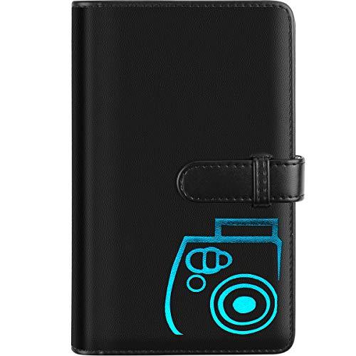 Katia 96 Pocket Wallet Photo Album Accessories for fujifilm Instax Mini 11/ 7s/ 8/8+/ 9/25/ 26/ 50s/ 70/90 Film, Instant Camera Printer(Not Fit for Square Films Picture) (Black)