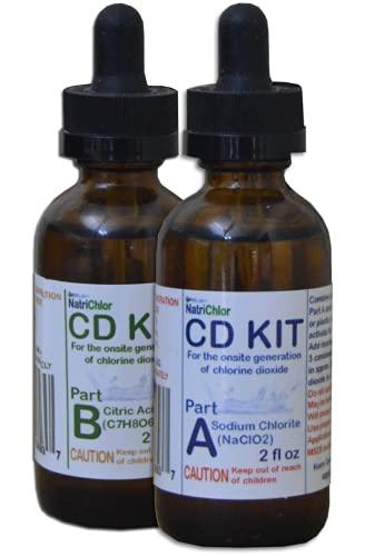 Chlorine Dioxide Water Treatment Two Part Liquid Classic 1:1 Set Citric Acid 50% : Sodium Solution