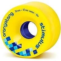 Orangatang Stimulus 70 mm 86a Freeride Longboard Skateboard Wheels (Yellow, Set of 4)