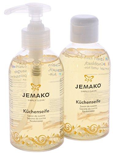 Jemako Küchenseife Flüssigseife Handseife 500 ml (2 x 250 ml) inkl. Seifenspender Neutralisiert Küchengerüche