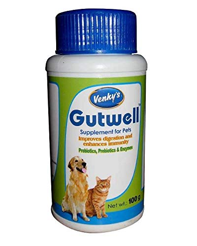 Venkys Venky's Gutwell Supplement for Dogs and Cats by Jolly and Cutie Pets (100gm(Pack of 1))