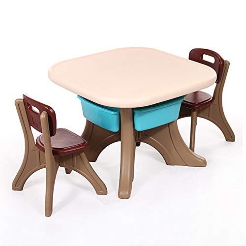 Sumferkyh Rehausseur de Poche Enfants De Table Et Chaises Jouets Table Multi-Couleurs for Enfants Chaises Set (Couleur : Rose, Taille : 69x49/49x31cm)