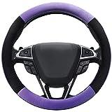 SEG Direct Purple Plush Winter Auto Car Steering Wheel Cover Universal...