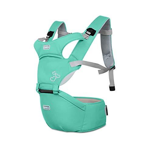 SONARIN Front Premium Hipseat Mochilas portabebé,Portador de Bebé,Multifuncional,Ergonómico,hebilla giratoria de mariposa,seguro y cómodo,adaptado al crecimiento de su hijo,regalo ideal(Verde)