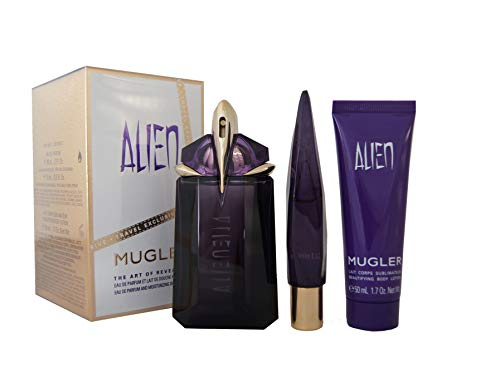 Mugler Alien Edp Refillable 60 ml + Edp Refillable Miniature 10 ml + Bl 50 ml (woman)