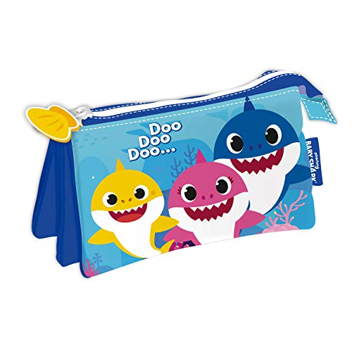 ARDITEX SK13837 Lapicero Portatodo Triple de 21x11cm de Nickelodeon-Baby Shark