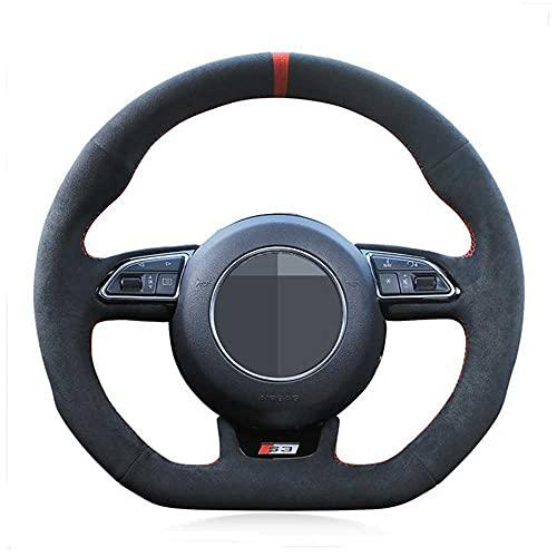 LYSHUI Coprivolante per Auto Fai da Te, per Audi S1 8X S3 8V Sportback S4 B8 Avant S6 C7 S5 8T S7 G8 RS Q3 8U SQ5 8R