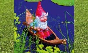 Zwerg im Boot 51 x 15 cm 147 Kunststoff-Figur, schwimmend