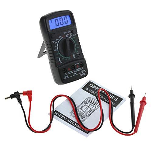 Ba30DEllylelly XL830L LCD Multimetro Digitale Amperometro Voltmetro Ohmmetro Elettrico Portatile Multitester AC/DC Volt Meter Tester Strumento Nero