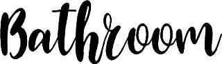 CreativeSignsnDesigns Door Vinyl Decal - Pantry, Restroom, Closet Water, Closet, Laundry, Office, toilettes, Bathroom (Bathroom, Black)