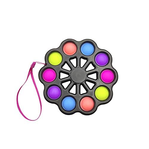EUROXANTY Fidget Spinner Grand avec bulles relaxantes Jouet pour enfants Jouet anti-stress - Fidget Spinner amélioré 15 x 15 cm - Noir