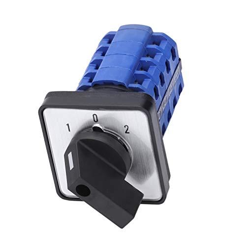 LilyJudy SZW26-20/D404.4 660V 20A 3 posiciones montaje en panel selecto interruptor de cambio de leva rotativa