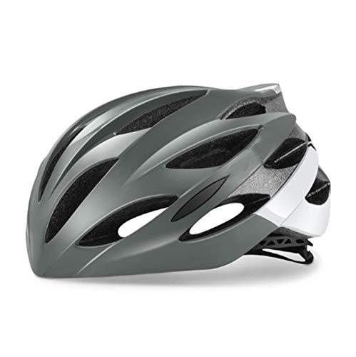 MissLi Casco De Ciclismo De Carreras Ultraligero con Gafas De Sol Casco De Bicicleta MTB Moldeado Integralmente Casco De Bicicleta De Carretera De Montaña (Color : B, Size : Large)