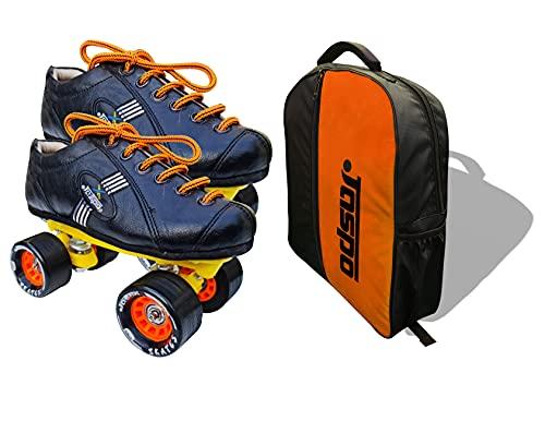 Jaspo pro-10 Quad Shoe Skates (Orange, 4 UK(Foot Length 24.4 cms))