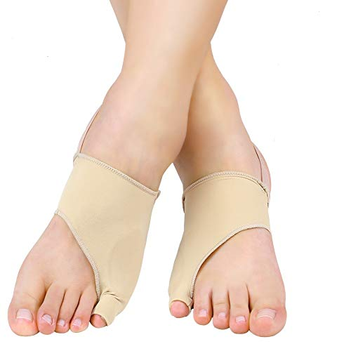 Tailor's Bunion Corrector, Soft Silicone Gel Bunionette Corrector Little Toe with Anti-Slip Strap, Pinky Toe Cushions Spacer Shield Guard for Calluses, Blisters and Corns