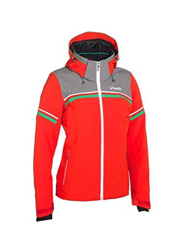 Phenix Damen Skijacke Orca Jacket, Red/Grey, 40