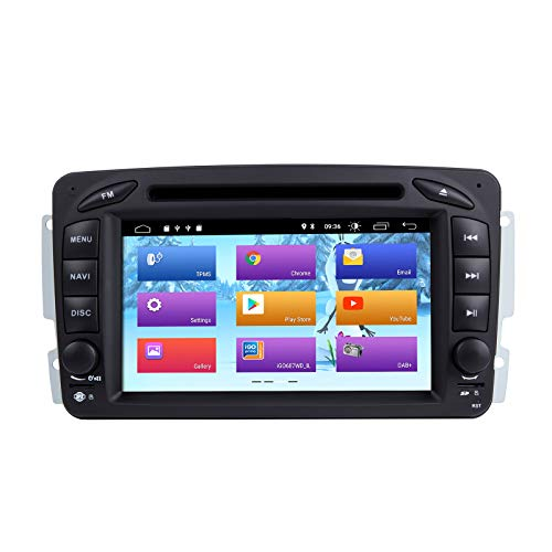 ZLTOOPAI Android 10.0 Autoradio für Mercedes Benz W209 / W203 / W168 / W163 / W463 / Viano / W639 / Vito/Vaneo 1998-2006 Audio GPS Navi-Unterstützung Voller RCA-Ausgang WiFi SWC