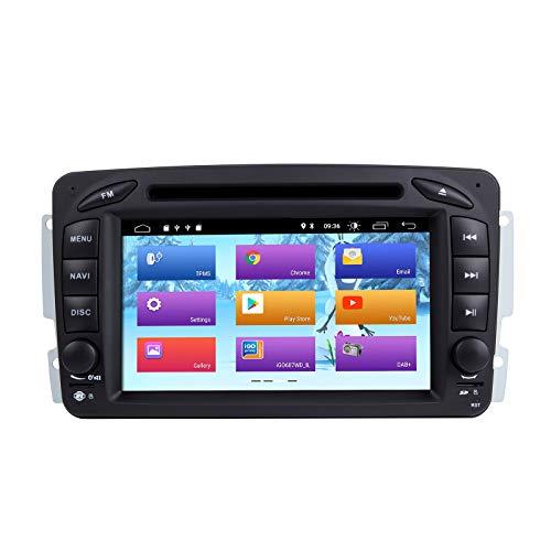 Android 10 Autoradio para Mercedes Benz W209 W203 W168 W163 W463 Viano W639 Vito Vaneo 1998-2006 GPS Audio Navi soporta Salida RCA Completa