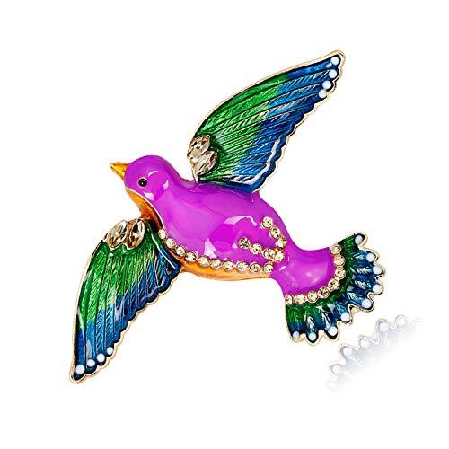HKJZ Prima de Crystal Encantador Swallow Exagerada Simple Broche de joyería Creativa Broche de la aleación Broche de Aves de Color Goteo Bird Broche Animal Insignia Pin de Solapa