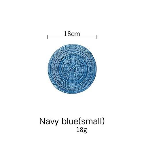 Unbekannt Kreisförmig gewebte Baumwolle Leinen Deckchen Isoliermatte Flowerpot Schiebeschale Handbuch