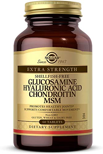 Solgar Glucosamina, Ácido Hialurónico, Condroitina Msm - 60 Tabletas
