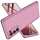 ALAMO Funda para el Xiaomi Redmi Note 10 4G (6.43'), Armadura Carcasa de PC Estructura de Tres Etapas Case Cover Estuche - Oro Rosa