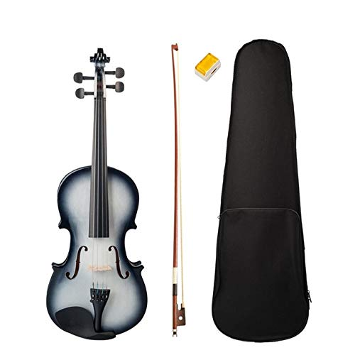 LOIKHGV Violino 4/4 Finitura Lucida Violino 4/4 Violino per Principianti in Bianco e Nero, Nero