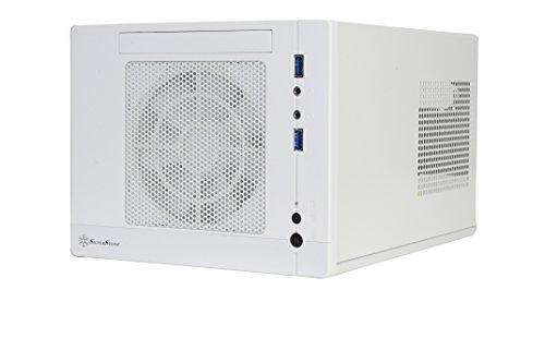 SilverStone SST-SG05W-Lite - Sugo Boîtier PC cube compact Mini-ITX, blanc