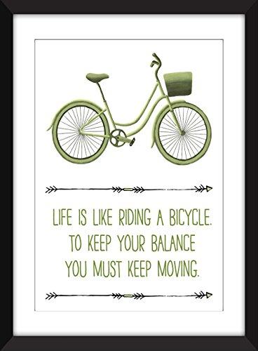 La vida de Albert Einstein es como montar una impresión de la bicicleta Unframed Print