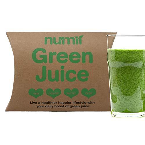 Nu-Mii - Green Juice | Vegan, Gluten Free Powder Supplement | 17 Plant-Based Superfoods Including Ashwagandha, Reishi, Maca Root and Moringa | Boosts Immune System | Full of Natural Vitamins |