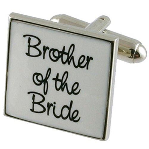 Cuff Links Gemelos Boda~hermano de la novia boda blanca gemelos Seleccione bolsa de regalo
