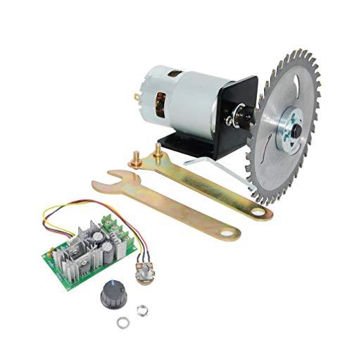 CHANCS Juego de sierra de mesa con motor eléctrico (12 V/24 V,...