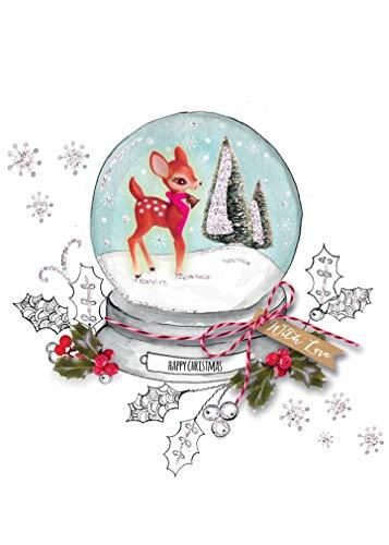 Snowglobe for you 65/mm DO IT Yourself Boule /à Neige avec Boule en Verre et Porcelaine Socle/ /40002