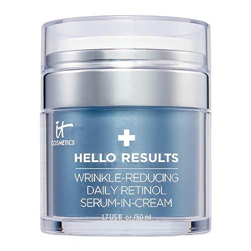 IT Cosmetics Hello Results Wrinkle-Reducing Daily Retinol Serum-in-Cream - Firming & Anti-Aging Retinol Face Cream with Niacinamide, Vitamin B5 & Vitamin E - 1.7 fl oz