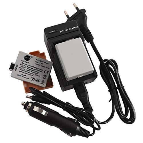 DSTE 2-Pieza Repuesto Batería y DC27E Viaje Cargador kit para Canon LP-E5 EOS 450D 500D 1000D Kiss F X2 X3 Rebel XS XSi T1i