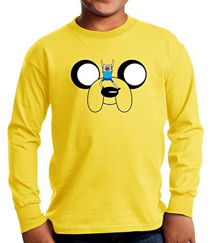 Camiseta Manga Larga de NIÑOS Hora de Aventuras Jake Finn 011 3-4 años