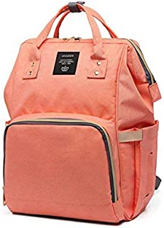 Robustrion Stylish Waterproof Multifunctional Diaper Bag for Moms for Travel Diaper Bag Backpack for Mothers- Coral