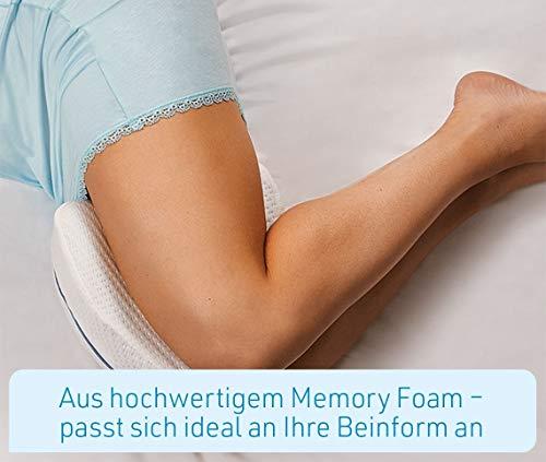 Mediashop Dreamolino Leg Pillow – ergonomisches Seitenschläferkissen für optimale Unterstützung – Memory Foam Kissen für Seitenschläfer stützt Beine, Knie und Rücken - Versand Edition - 4