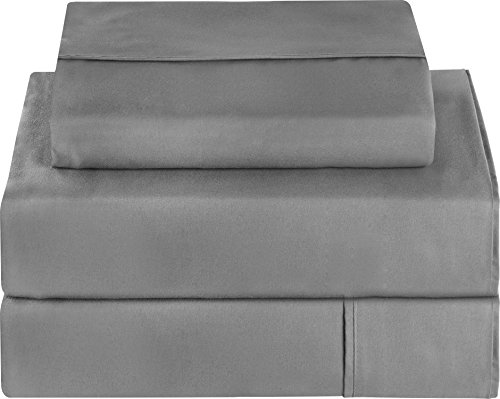 Utopia Bedding Microfiber Sheet Set Twin Grey