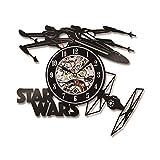 wtnhz LED-Disco de Vinilo Retro Tema del Reloj de Pared 3D Reloj de CD Hueco decoración del hogar Arte de la Pared Creatividad y Reloj silencioso de Estilo Antiguo