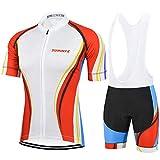 SUHINFE Ropa Ciclismo y Pantalones Equipación de Ciclista con 5D Gel Pad para Verano Deportes al Aire Libre Ciclo Bicicleta