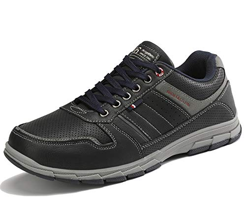 ARRIGO BELLO Freizeitschuhe Herren Sneakers Schuhe Wanderschuhe Walkingschuhe Berufsschuhe Sportschuhe Outdoor Leichtgewicht Trainers Größe 41-46(Dunkelblau, Numeric_44)