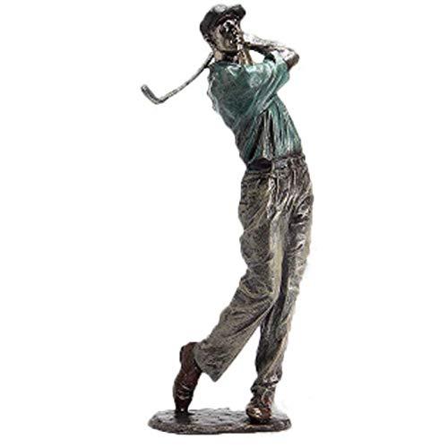 Statuen PolyResin Skulptur Deco Golfer Figuren Mann Skulptur Statue, Handdekoration PolyResin Golfspieler Mann Figur,C