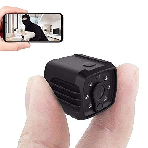 0℃ Outdoor Cámara Oculta Inalámbrica Mini HD 1080p, Cámaras de Seguridad con Detección de Movimiento y Visión Nocturna para el Hogar, HD 1080p y 140 Gran Angular, Cámara Espía de Visión Nocturna