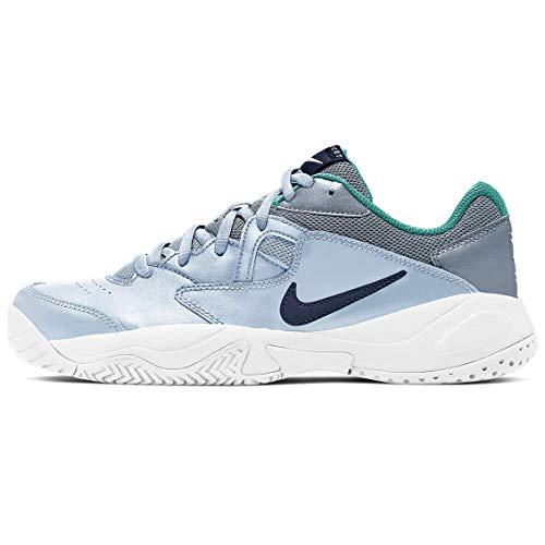 Nike Court Lite Ar8838-004 - Tenis para mujer, azul (Fútbol Gris/Azul Marino Medianoche), 38.5 EU