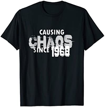 Causing Chaos Since 1968 T Shirt Funny 51st Birthday Shirt product image