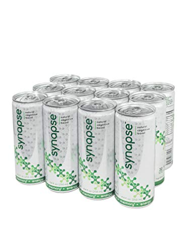 Synapse 12-Pack: Mental Performance and Energy Boosting Herbal Supplement Powered by Natural Nootropic Ingredients for Brain Function: (Bacopa Monnieri, Alpha GPC, L Theanine, and Huperzine A)